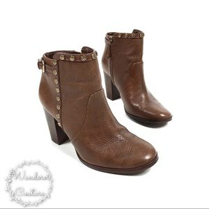 TORY BURCH Mae Cognac Heeled Ankle Boots